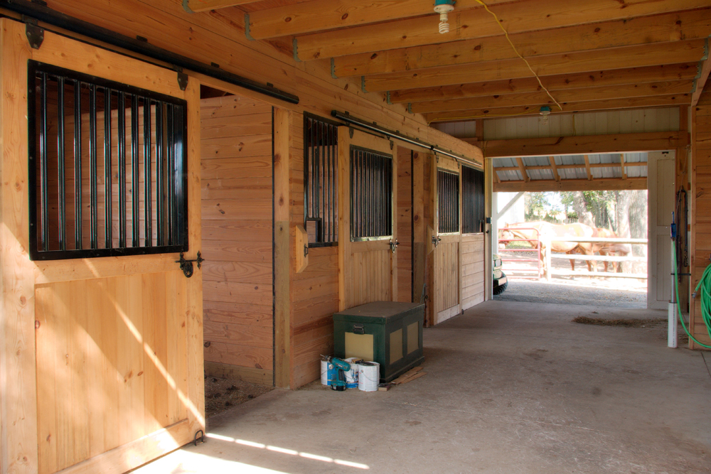 Construction services of horse barns equine facilities for 4 horse barn